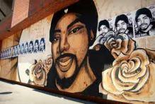 Oscar Grant mural.
